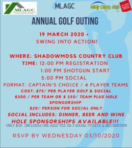 MLAGC Annual Golf Outing @ Shadowmoss Country Club